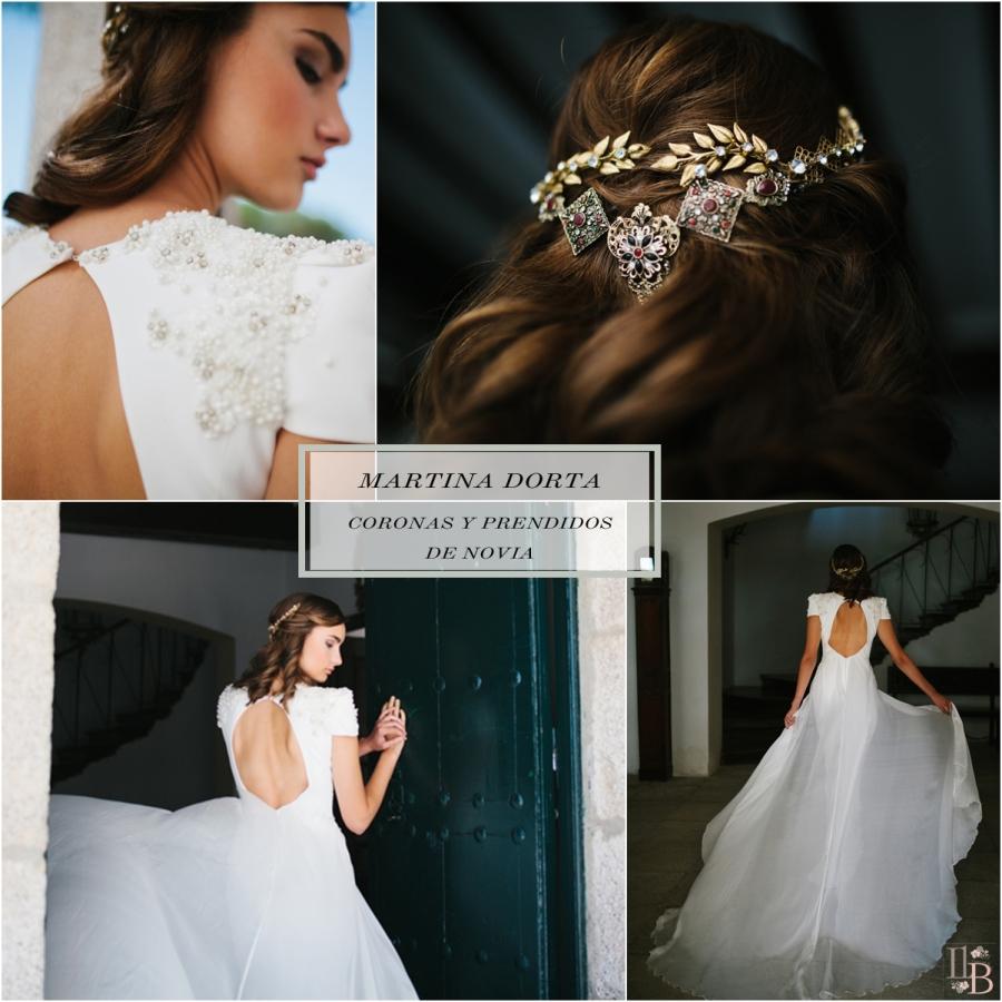 Martina Dorta coronas y prendidos de novia. Accesorios de moda. Post en Llega mi Boda