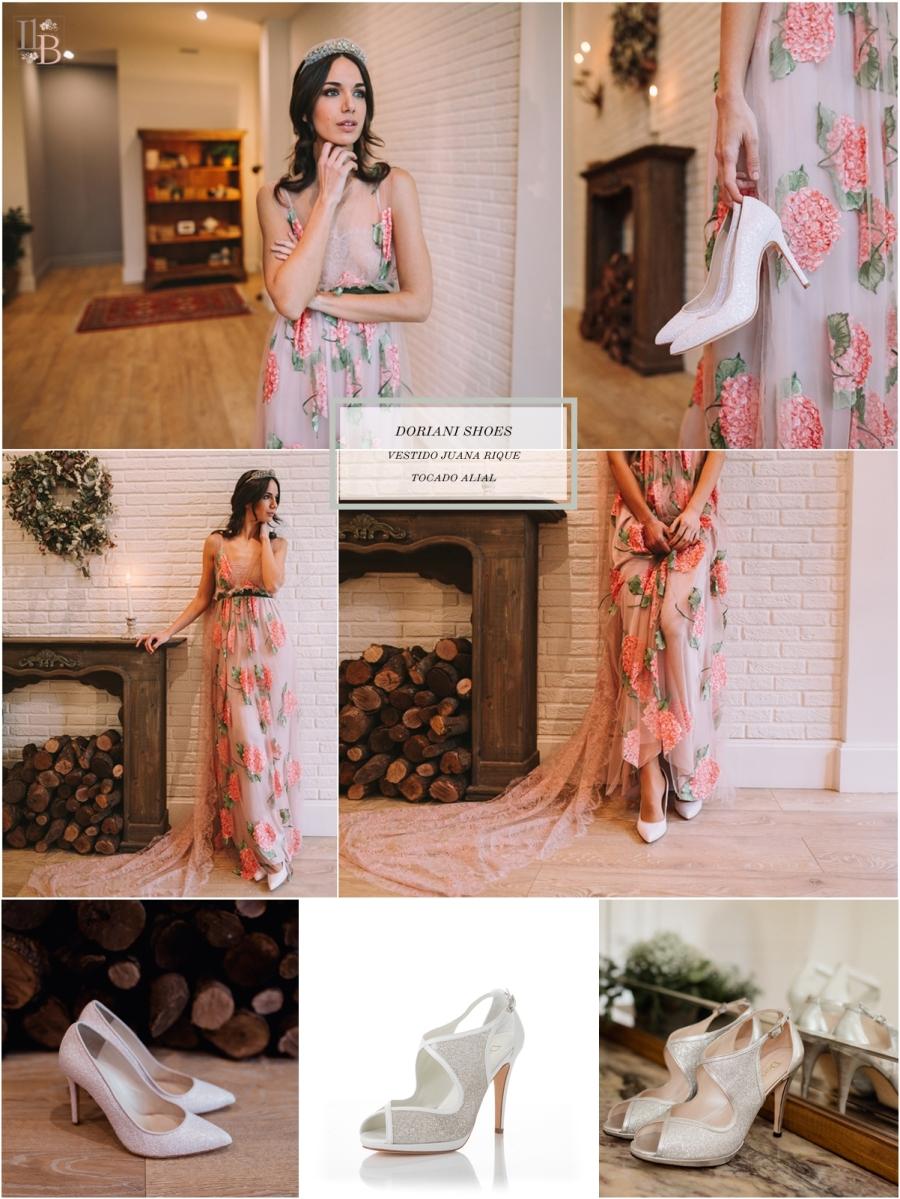 Intemporel, nueva colección Doriani Shoes con vestido de Juana Rique. Post Llega mi Boda